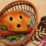 卡哇伊小狗麵包三明治