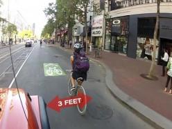 加州新法律-腳踏車騎士的安全緩衝區