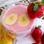 草莓香蕉牛奶冰沙