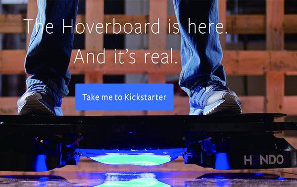 Los Gatos公司開發漂浮滑板(Hoverboard)