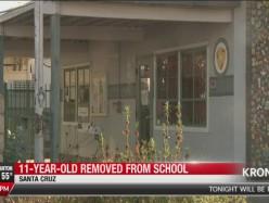 十一歲男孩從學校被警方帶離